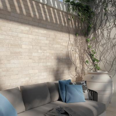 Carrelage d cor briquette effet pierre 6 2x25 volterra Carrelage effet briquette