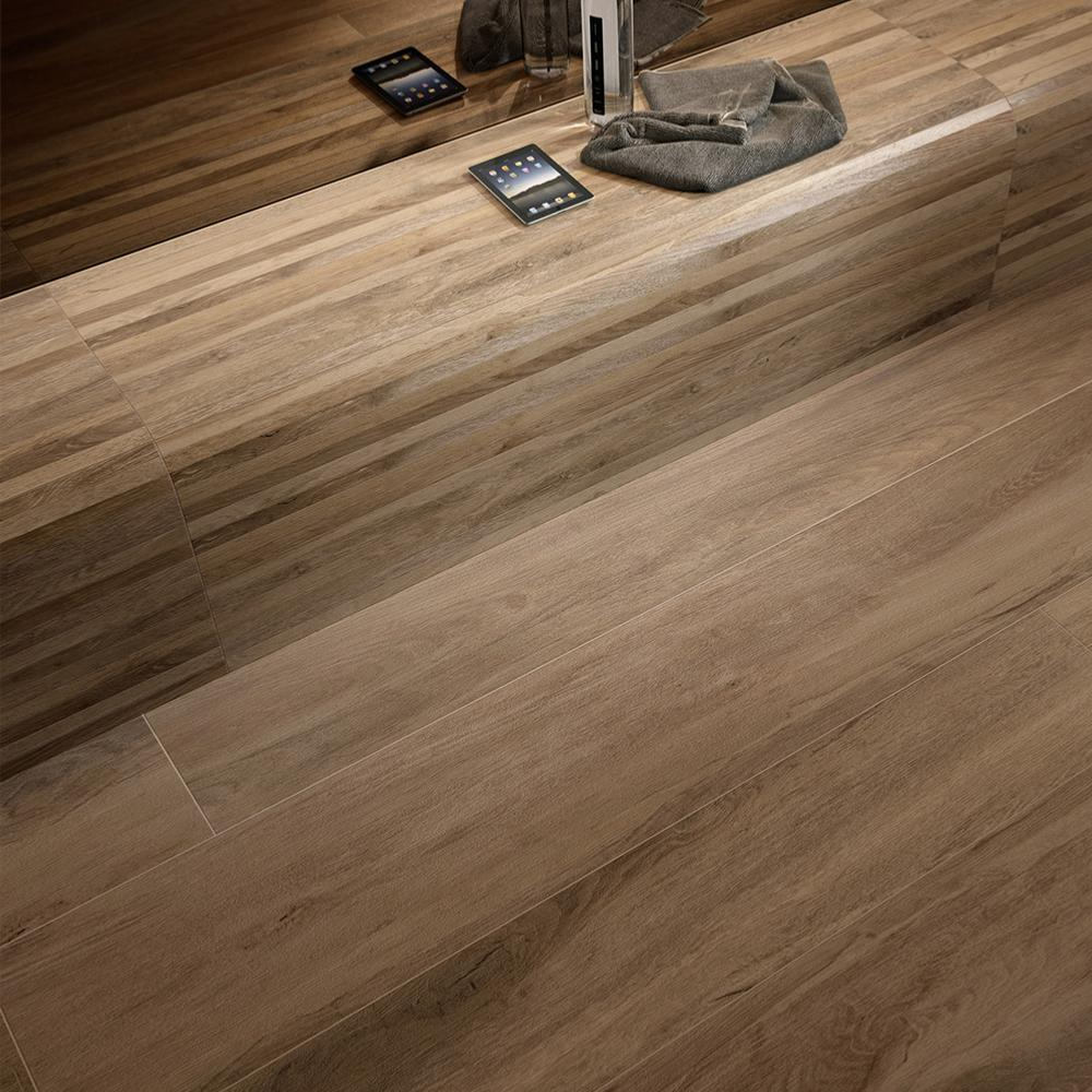 Carrelage Imitation Bois Exotique 30x120 Iroko Naturel Rectifié Collection Woodtime Monocibec