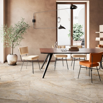 Carrelage imitation marbre 60x120 San PE6 Naturel Rectifié, The Room Imola - Stock CER'AFFAIRES