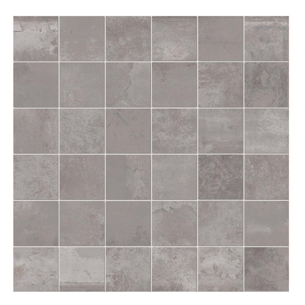 Mosaique Pour Credence Cuisine mosaïque effet métal 30x30 g acier lisse naturel, collection tube imola