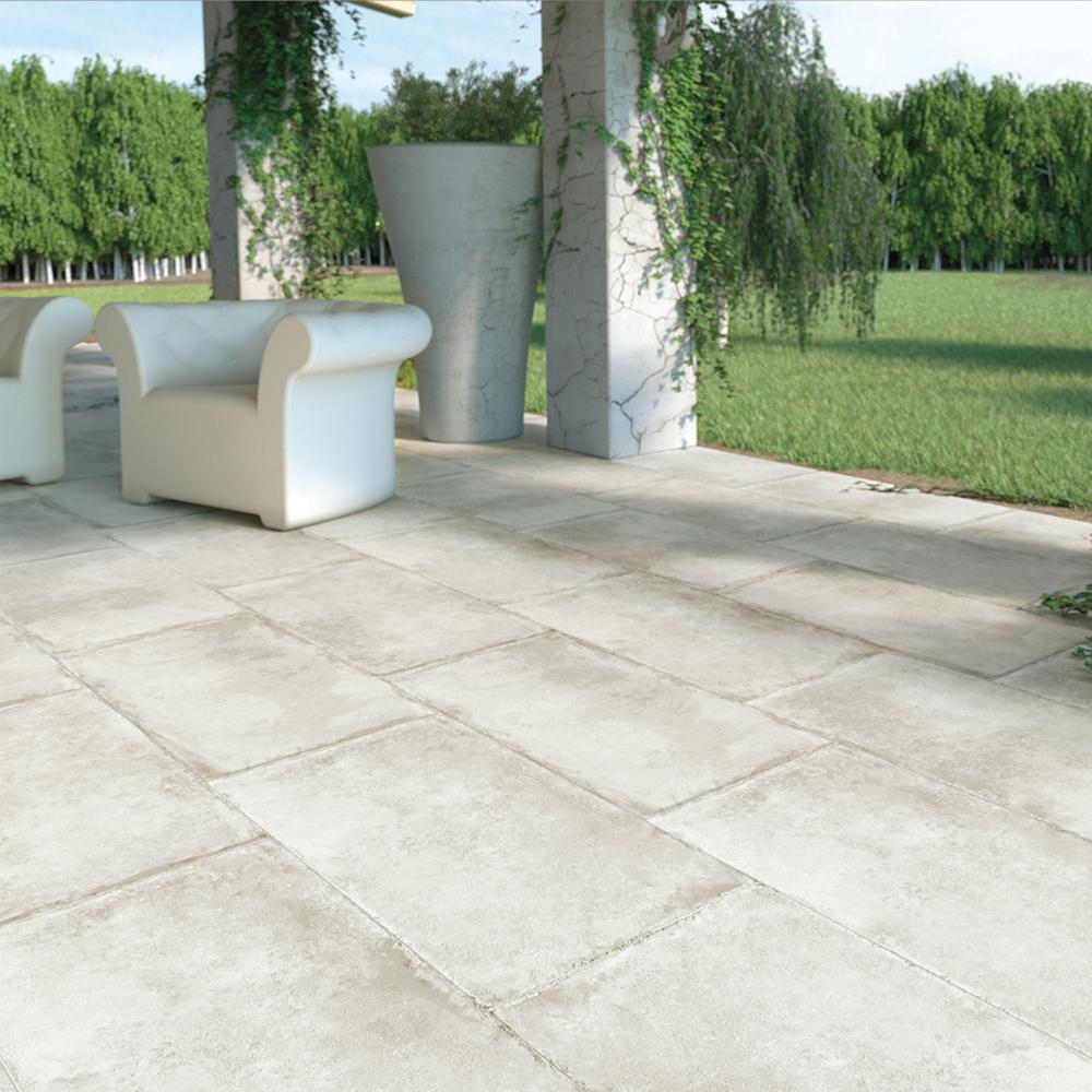 Carrelage terrasse anti-dérapant effet pierre 50x100 Olimpia Grip Naturel, collection Esedra NAXOS