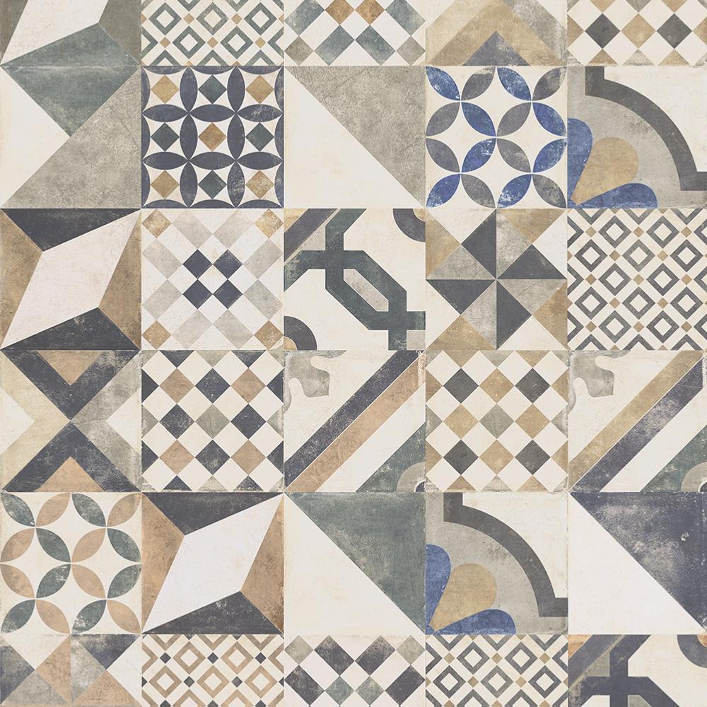 Crédence Effet Carreau De Ciment décor effet carreaux de ciment 20x20 formella graphis mix rectifié,  collection graphis monocibec