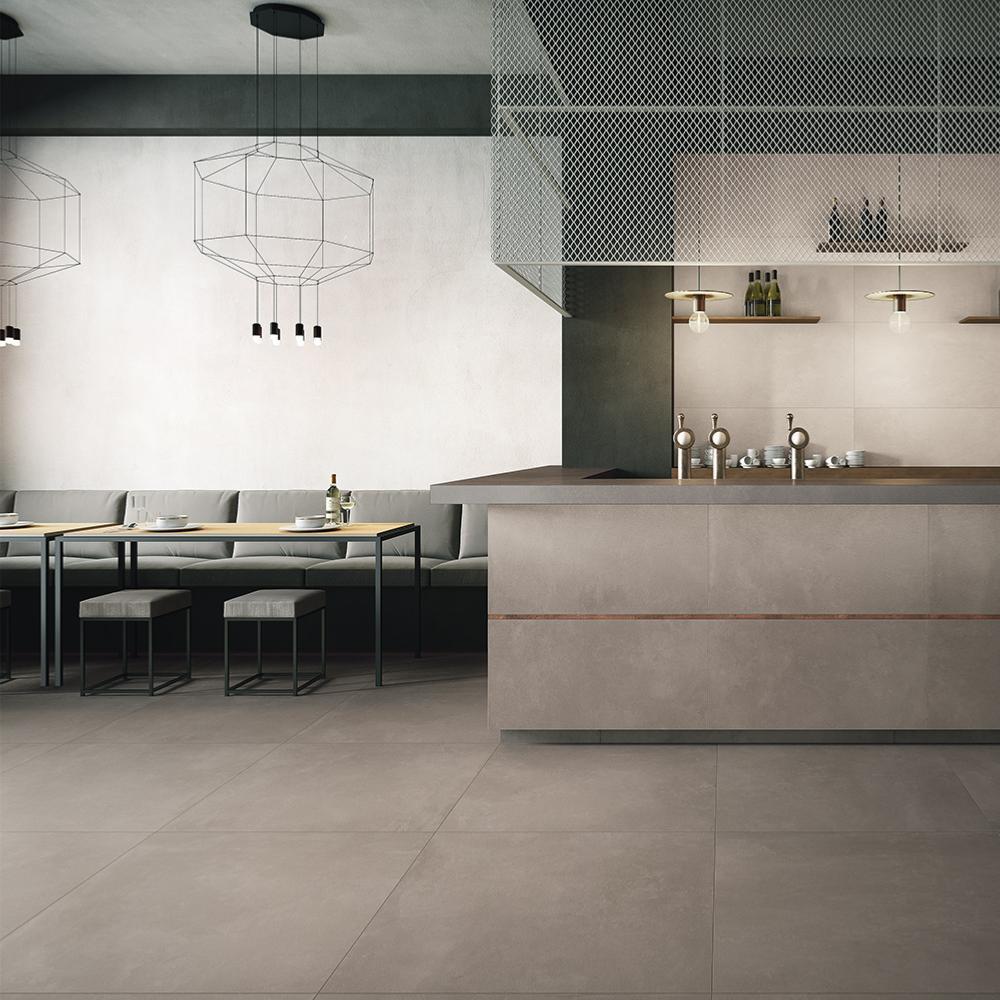 Mur Couleur Gris Beton carrelage imitation béton ciré 60x120 g gris lisse rectifié, collection  azuma imola