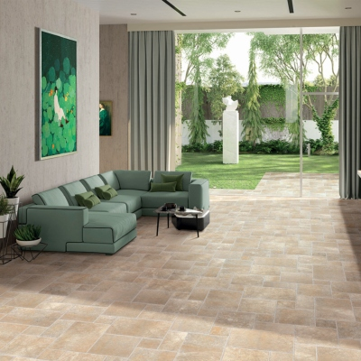Carrelage sol opus 4 formats effet pierre Beige Naturel, Provence EXE - Stock CER'AFFAIRES