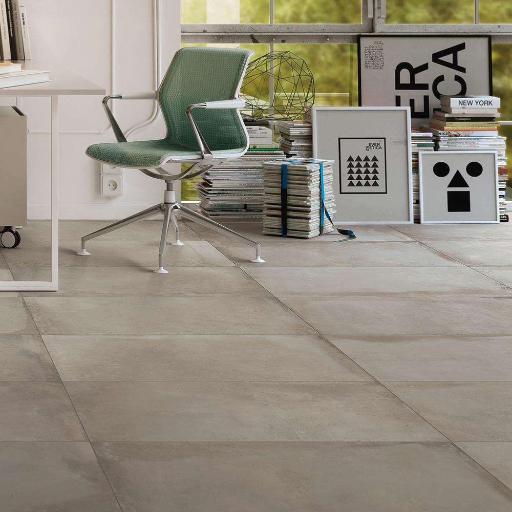 Sol En Beton Interieur carrelage effet béton 60x60 g gris structuré rectifié, collection origini  imola