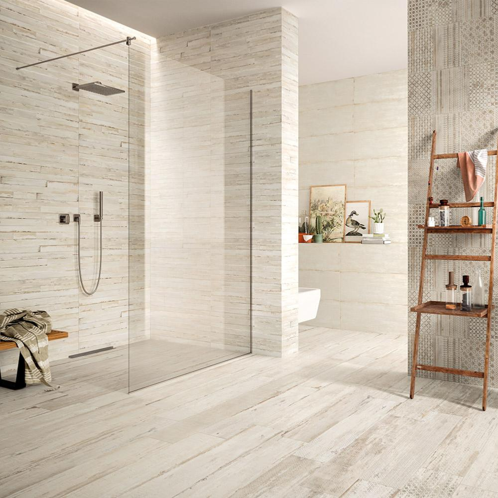 Carrelage mural fa ence d coration salle de bain 32x80 5 elan line naturel collection flair naxos - Carelage salle de bain ...