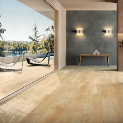 Carrelage extérieur imitation bois plancher 20x100 Honey Grip Naturel, collection Charm Monocibec