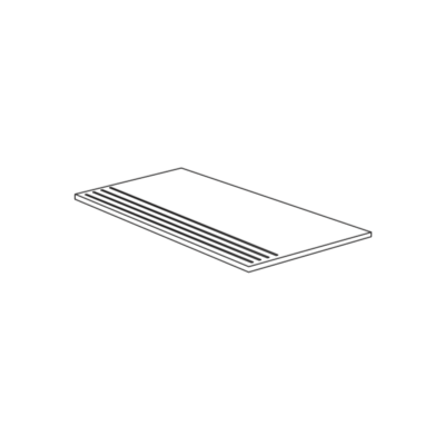 Nez de marche imitation pierre 30x60 Brera Rectifié, collection Stone Box de Cercom