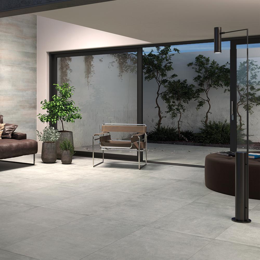 Carrelage Effet Beton Cuisine carrelage sol effet béton 60x60 grigio naturel rectifié, collection graphis  monocibec