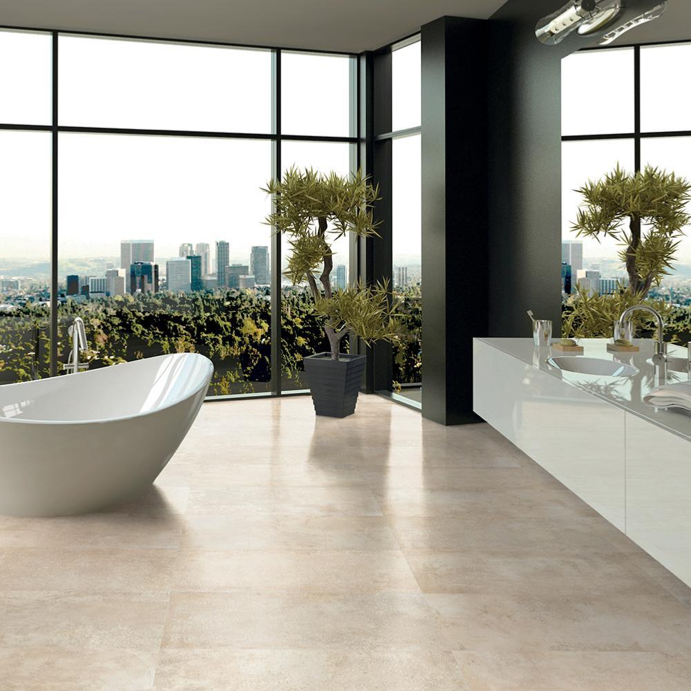 carrelage int rieur ext rieur effet pierre b ton 45 5x91 beige naturel collection patchwalk ascot. Black Bedroom Furniture Sets. Home Design Ideas