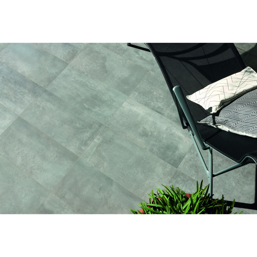 Carrelage extu00e9rieur effet bu00e9ton 30x60 Grey Out, collection ...