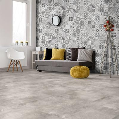 Carrelage imitation carreaux de ciment 60x60 Cementine Grey Rect, collection Volcano Rondine