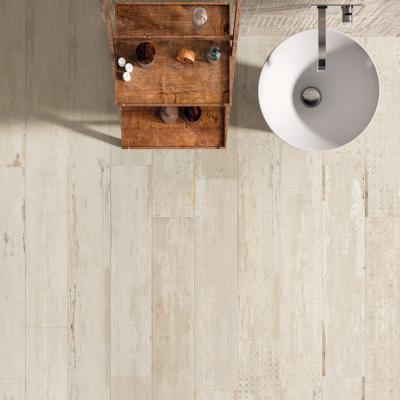 Carrelage sol salle de bain imitaiton bois 20x100 Elan Decor Pav Naturel, collection Flair Naxos