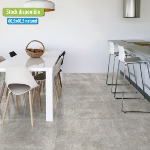 Carrelage effet pierre 60,5x60,5 Grigio Naturel, collection Travertina Savoia - Stock CER'AFFAIRES