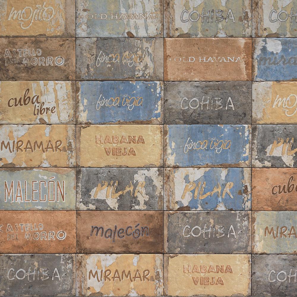 D cor effet terre cuite 10x20 cuba libre mix collection for Prix carrelage terre cuite