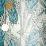 Décor faïence composition feuille jungle 62,4x79,7 Comp Jungle, collection Hub Naxos