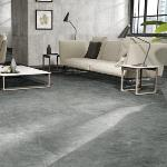 Carrelage sol effet pierre 60x60 Anthracite Naturel Rectifié, collection Glam Century