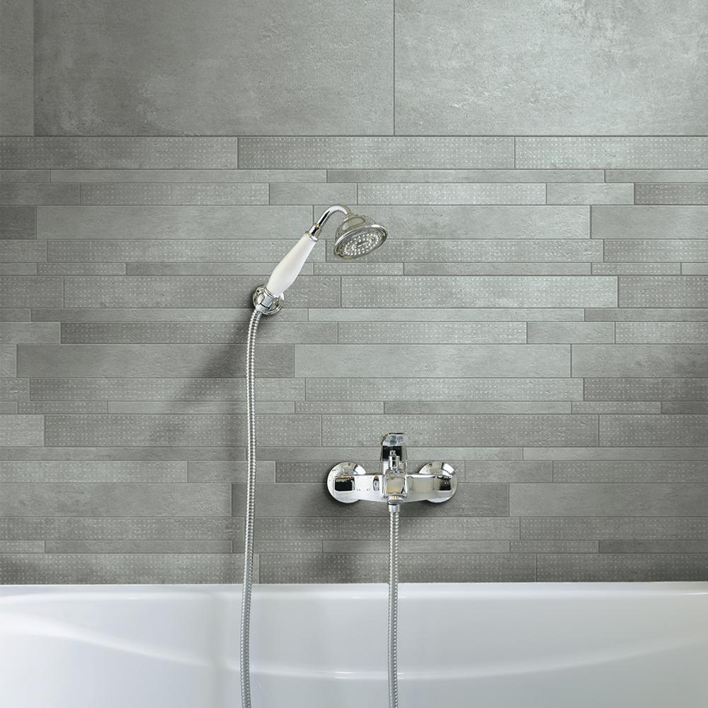 Mosaique Decor Carrelage Effet Beton 30x60 Mix Titan Track Naturel