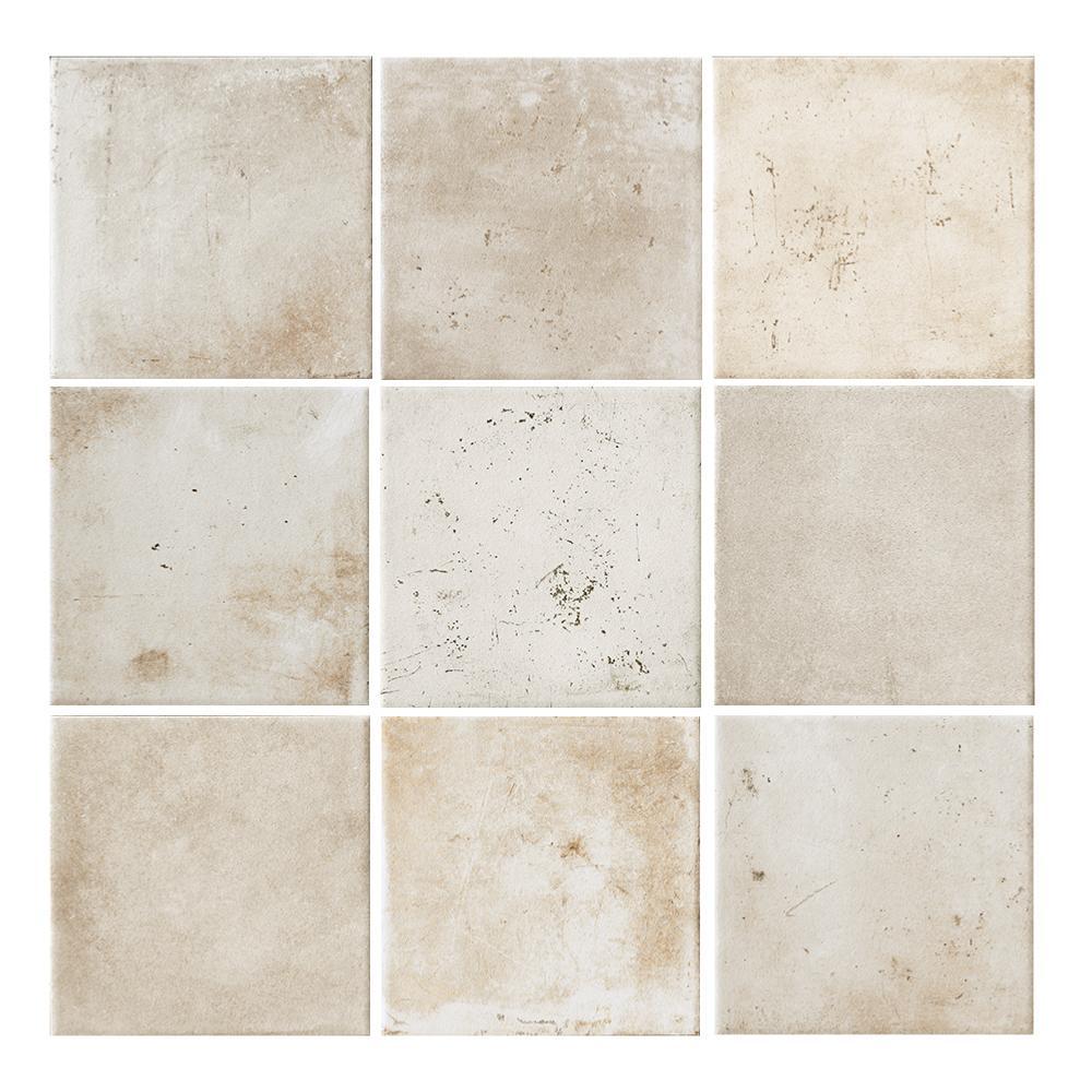 Carrelage effet carreaux de ciment 10x10 White Rope Nat, collection Miami  Cir