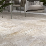 Carrelage antidérapant aspect pierre 30,5x60,5 Beige Strong Naturel, collection Ardesie Rondine