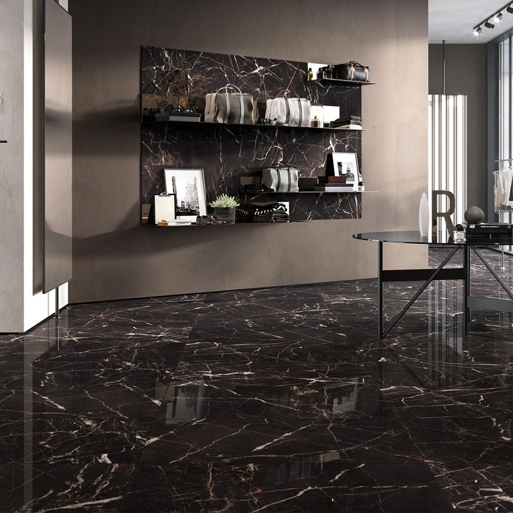 Carrelage Interieur Effet Marbre 60x60 Emperador Full Lappato Rectifie Collection Canova Rondine